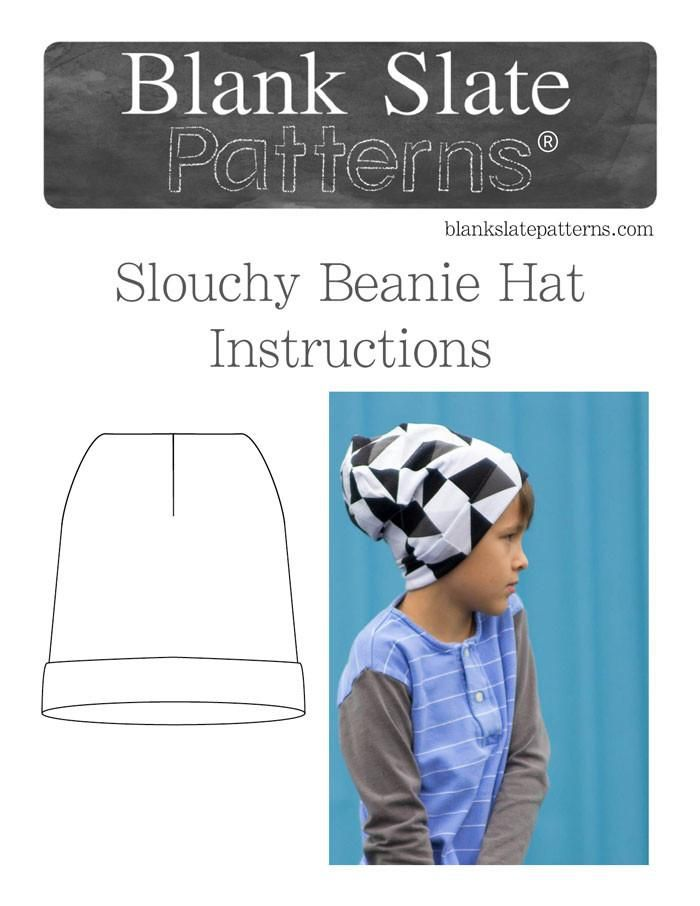 Slouchy Beanie Hat | Sewing patterns | Pinterest | Sewing patterns ...