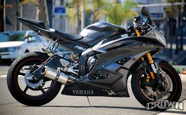 Yamaha r6 06 07 model with sporting crownmotousa carbon for Yamaha r6 carbon fiber exhaust