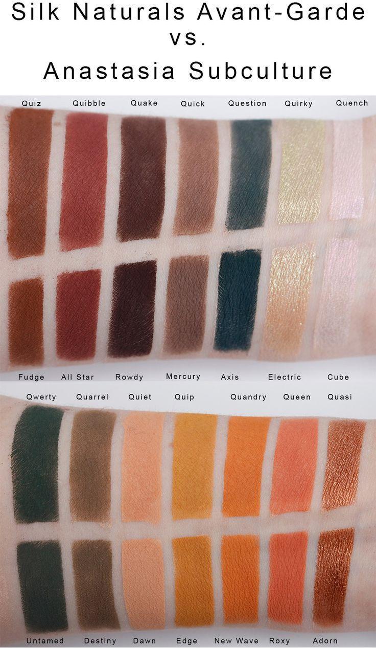 Silk Naturals AvantGarde Palette vs. Anastasia Subculture