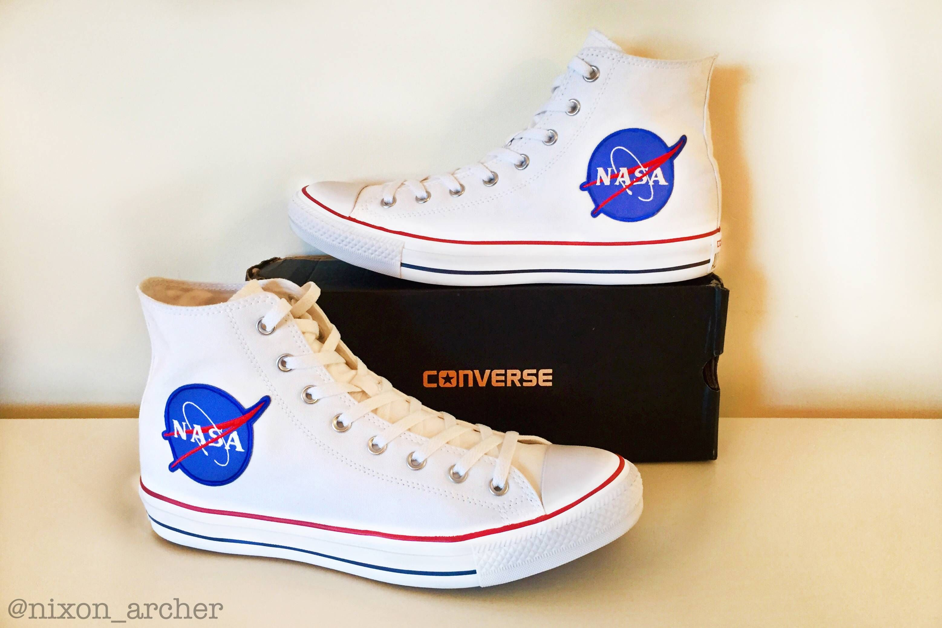 pretty nice 359b3 b1804 I was inspired by  u upvotecityutah and made the Converse All Star x NASA.  Can t wait to beat  em!  )