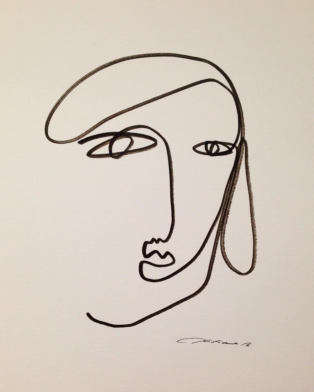 Normal is boring my aim is to be different face line drawing abstract