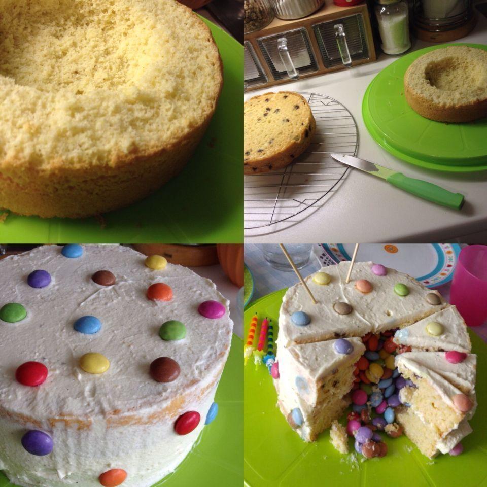 Photo of Pinata Kuchen Vanille Kuchen, Vanille Kuchen mit schokostückchen gefüllt Sma…