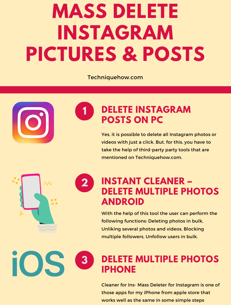 28 Ways to Delete Multiple Instagram Pictures & Posts – MASS
