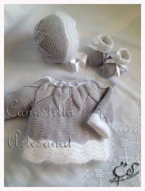 Canastilla artesanal modelo 38 en gris twins - Canastilla artesanal bebe ...