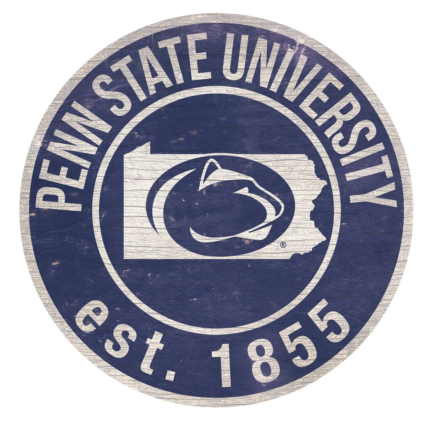 """Penn State with Logo 24"""" Round Sign Penn state, Outdoor"""