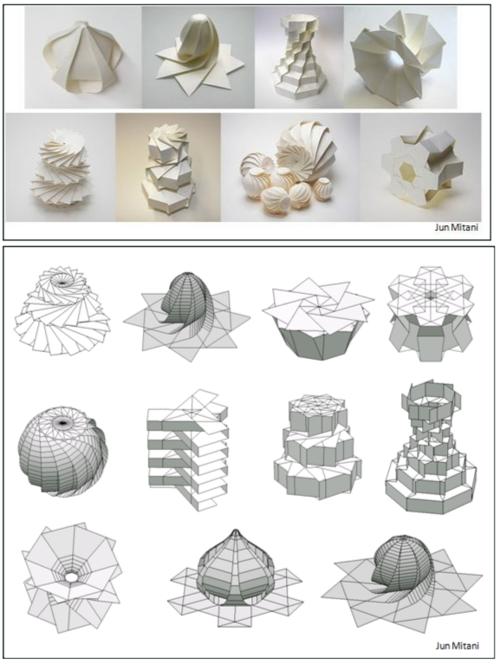 ORI-REVO: A Design Tool for 3D Origami of Revolution | Flickr | 665x500