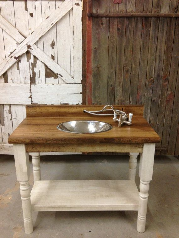 Reserved For Cami Reclaimed Barn Wood Bathroom Vanity Turned