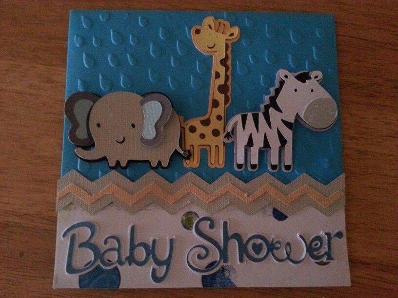 Elegant Cricut Baby Shower Invite
