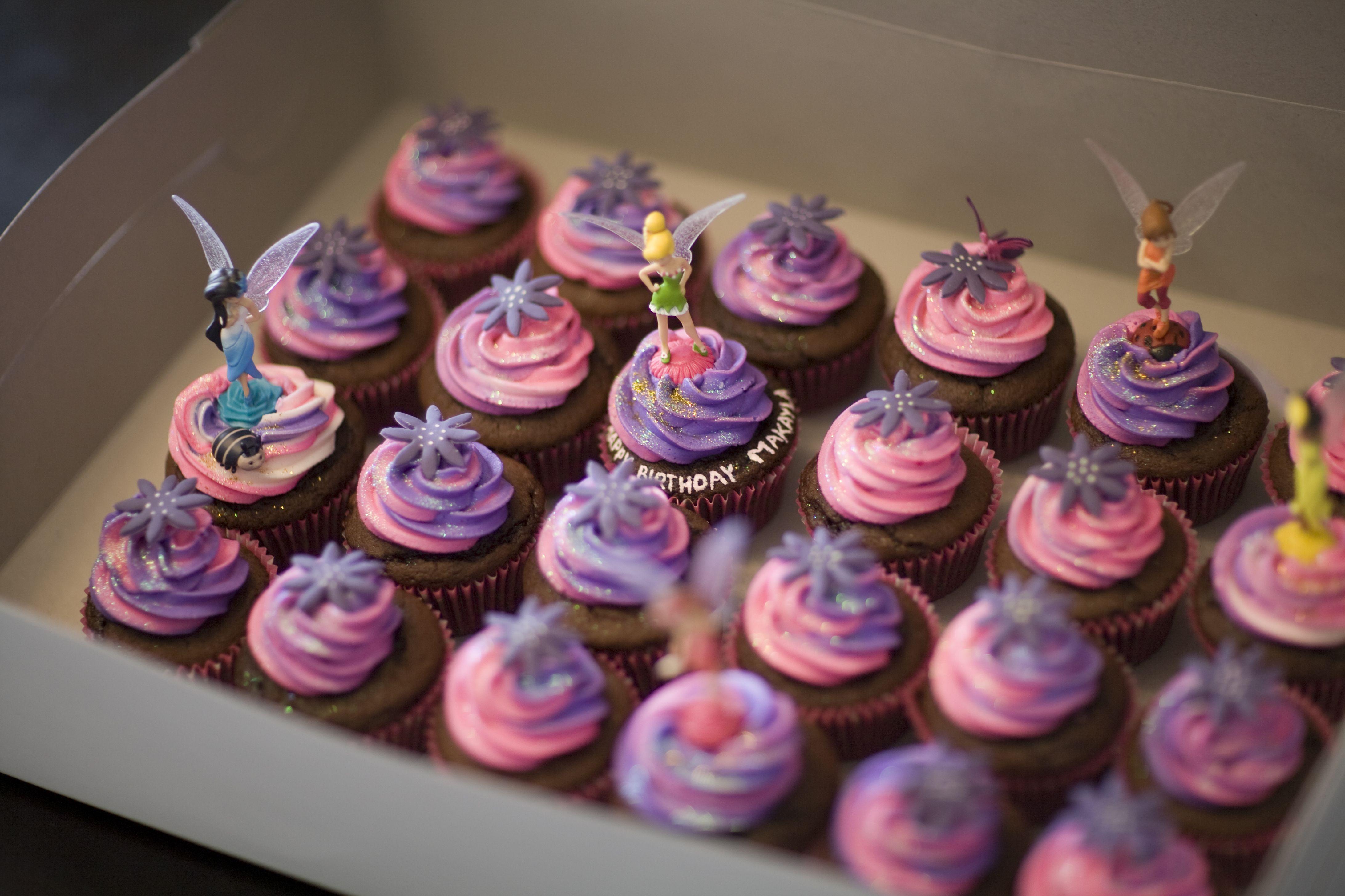 Amazing Tinkerbell Cupcakes Cupcake Birthday Cake Birthday Cake Funny Birthday Cards Online Alyptdamsfinfo