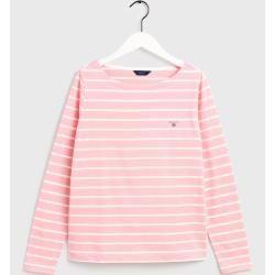 Photo of Gant Breton Sweater with Boat Neck (Pink) Gant