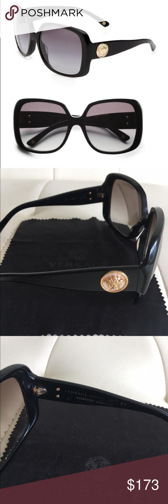 e17c80392390 Versace sunglasses Limited Edition VERSACE Sunglasses/Versace Limited  Edition Oversized Square Sunglasses/Womens Black Gradient Versace  Accessories ...