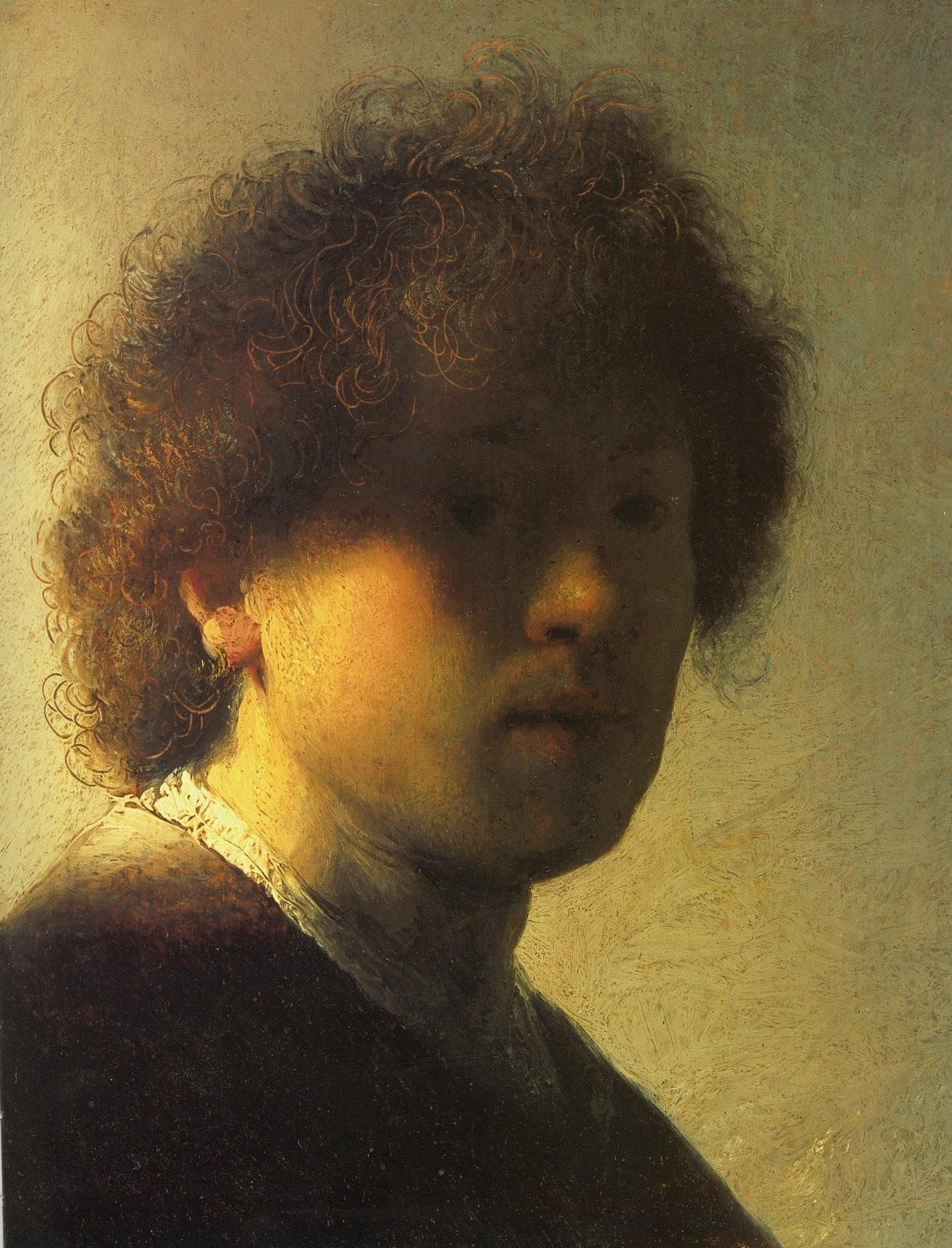 Hedendaags Johannes Vermeer Self Portrait. One of the few portraits of the HU-68