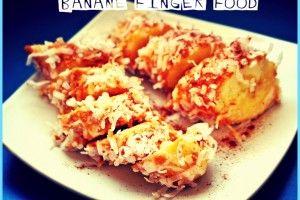 Banane finger food   Una cucina da single   Pinterest   Finger ...