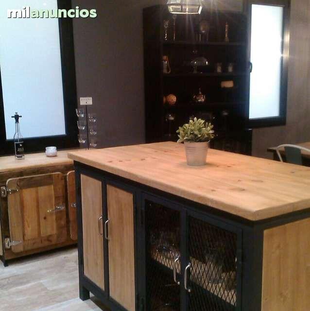 Resultado de imagen para mueble cocina estilo industrial for Muebles industriales madrid