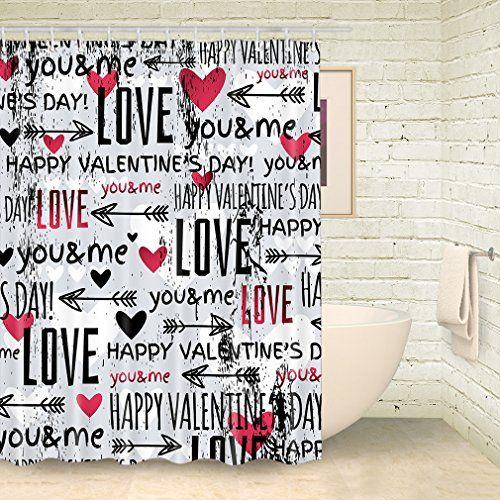 Generic Shower Curtain Valentine S Day Shower Curtain Bat Https