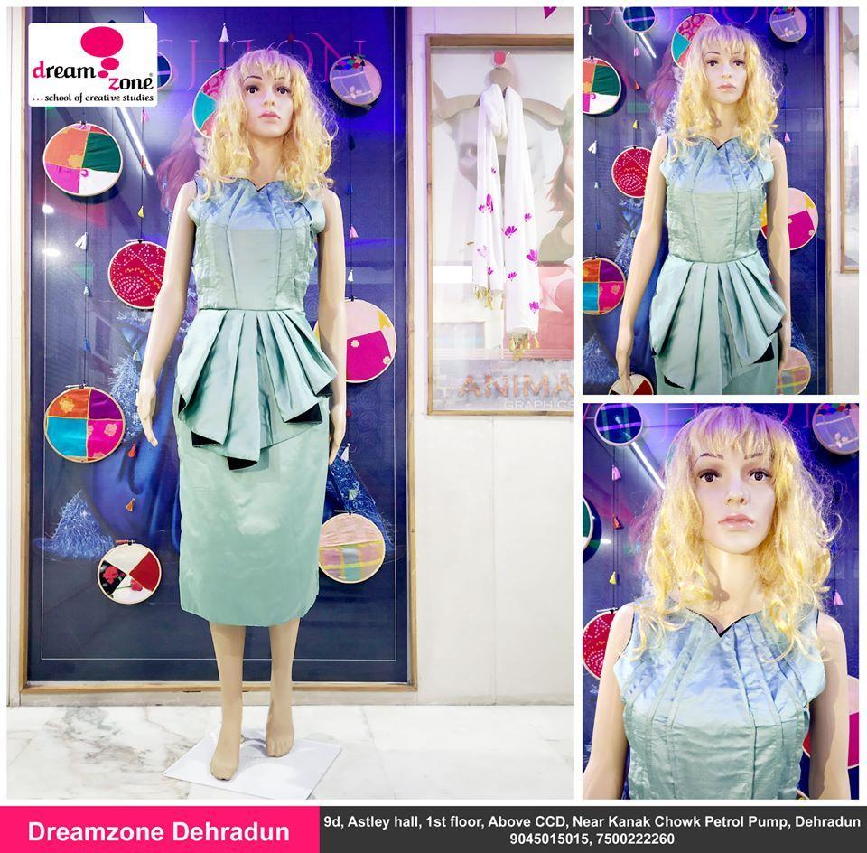 Green Colour Draping Dress Dreamzone Dehradun In 2020 Fashion Design Fashion Fashion Designing Course