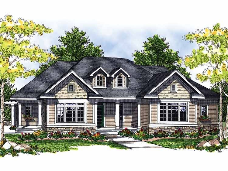Traditional Style House Plan 3 Beds 2 Baths 1774 Sq Ft Plan 70 679 Ranch Style House Plans House Plans Ranch Style Homes