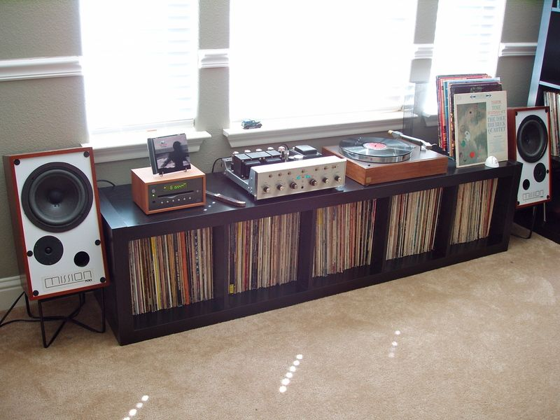 Another great looking hifi rack built from ikea lack side - Mobile stereo ikea ...