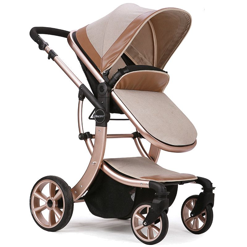 Luxury Baby Stroller High Landscape Baby Carriage For