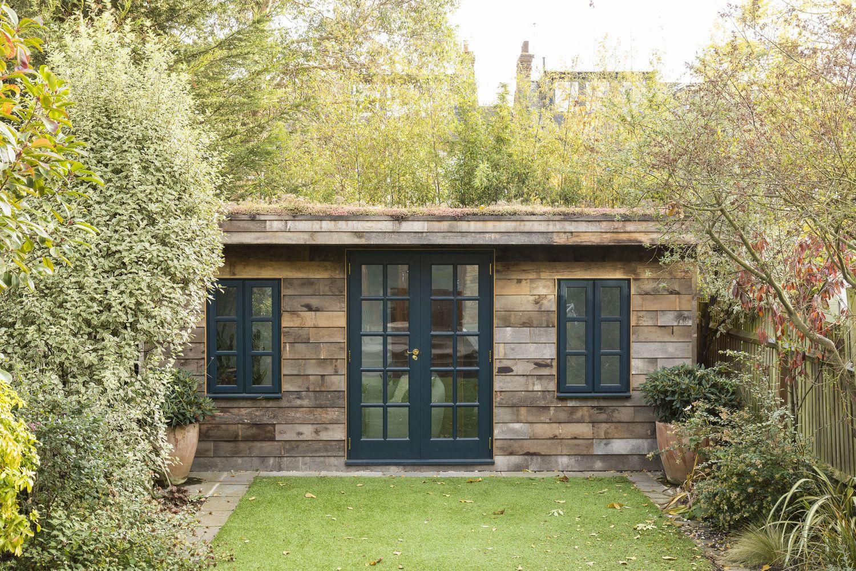 Born Bred Studio London Interior Design Photo Credits Chris Snook Farrowandball Palmprint Outbuilding Ga Backyard Buildings Garden Room Garden Cabins
