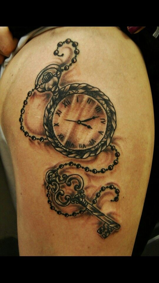 Pocket watch tattoos