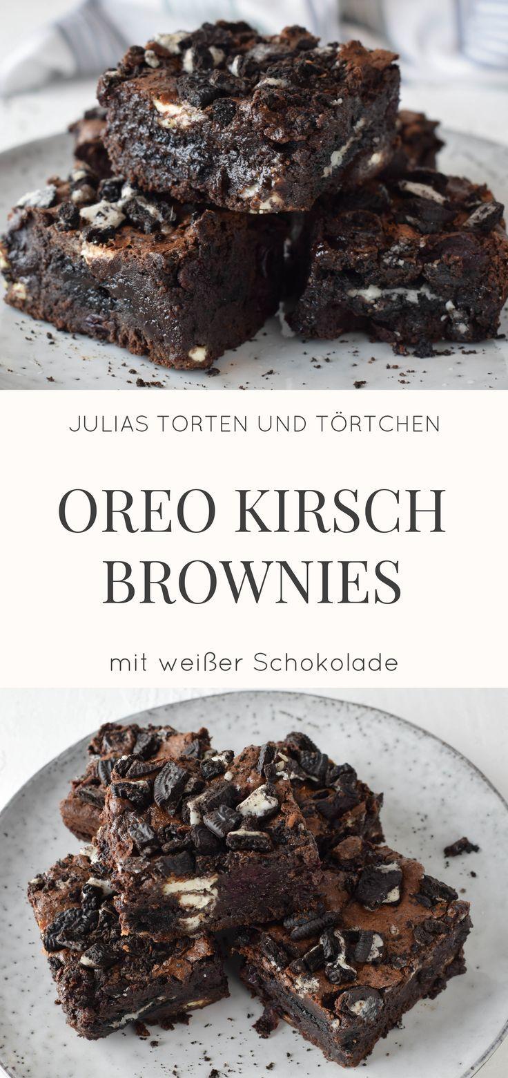 Oreo Cherry Brownies mit weißer Schokolade