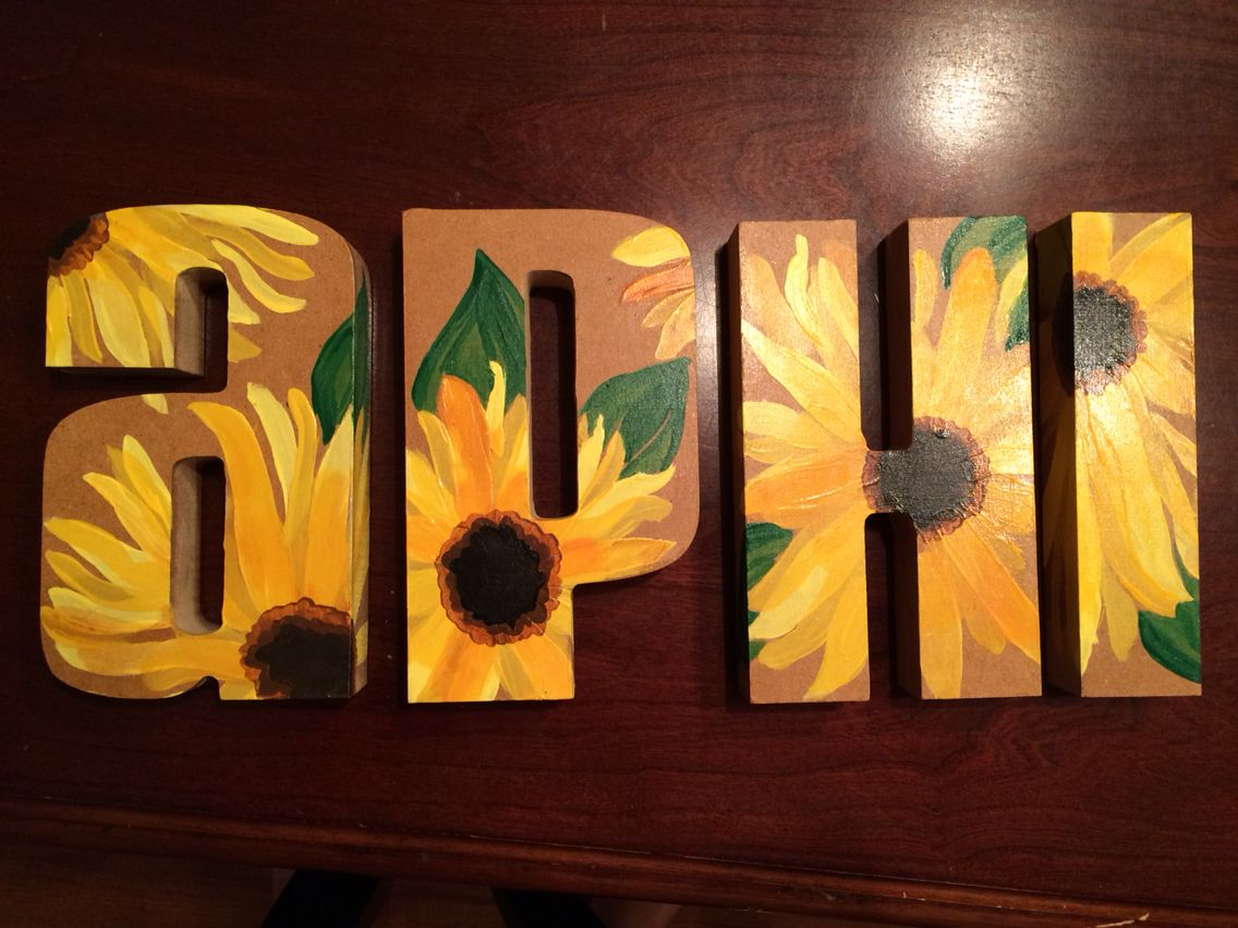 Alpha phi painted sorority letters! | ΑΦ | Pinterest | Ast