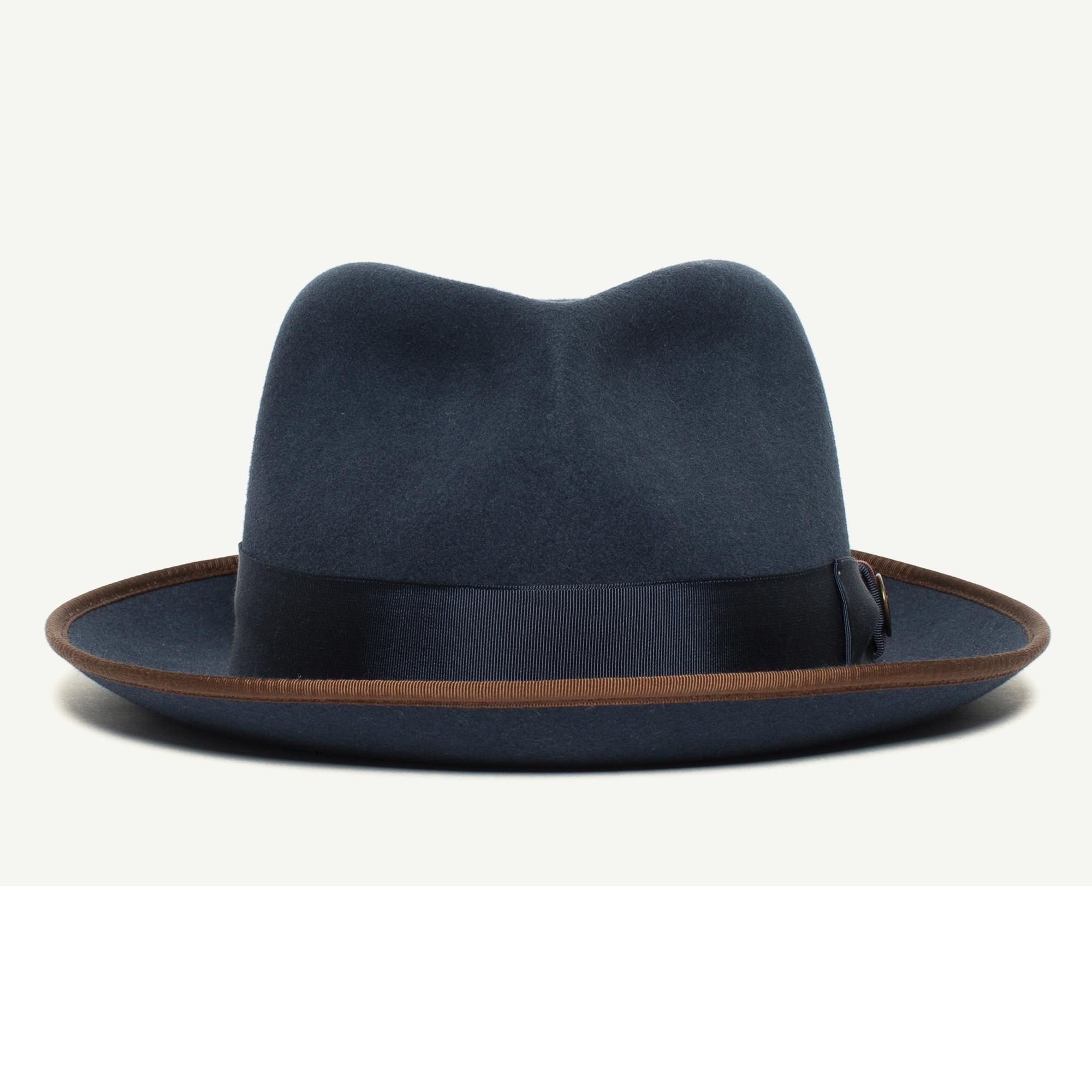 2bf3e26e Lozano wool diamond porkpie fedora hat with 2 1/4