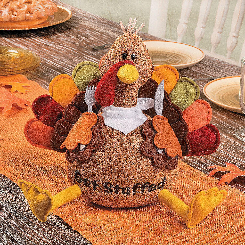 "Plush ""Get Stuffed"" Turkey"