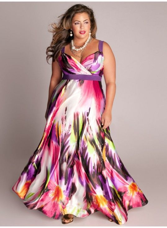 Curvalicious clothes plus size dresses tropical for Tropical wedding guest dresses
