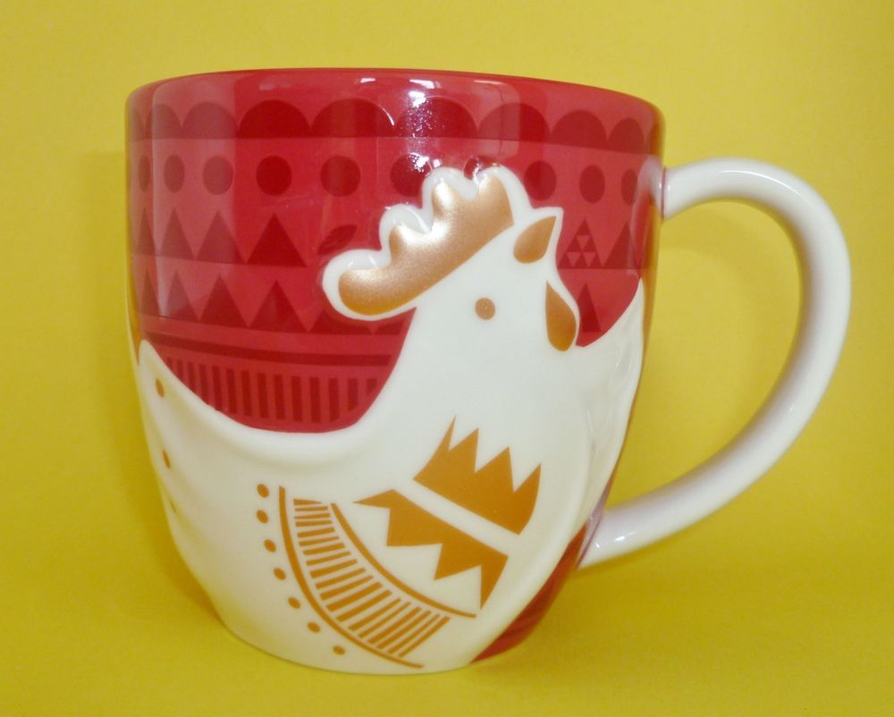 Starbucks Chinese Lunar New Year of the Rooster Mug Red