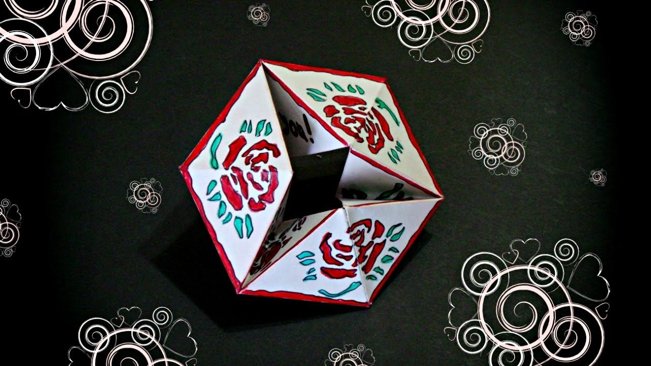 Diy Flexagon Endless Card Infinite Card Origami Tutorial