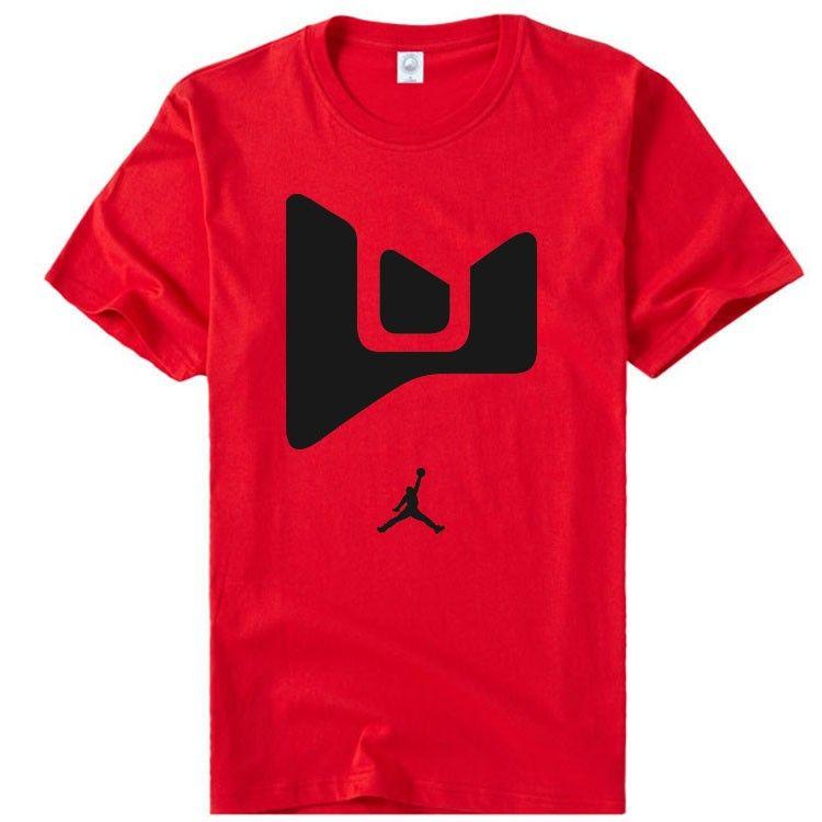 NBA Miami Heat Dwyane Wade AJ logo short sleeve t shirt-Tshirtsky