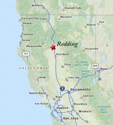 Map Of California Redding Redding California Recipes To Cook - Map of cali