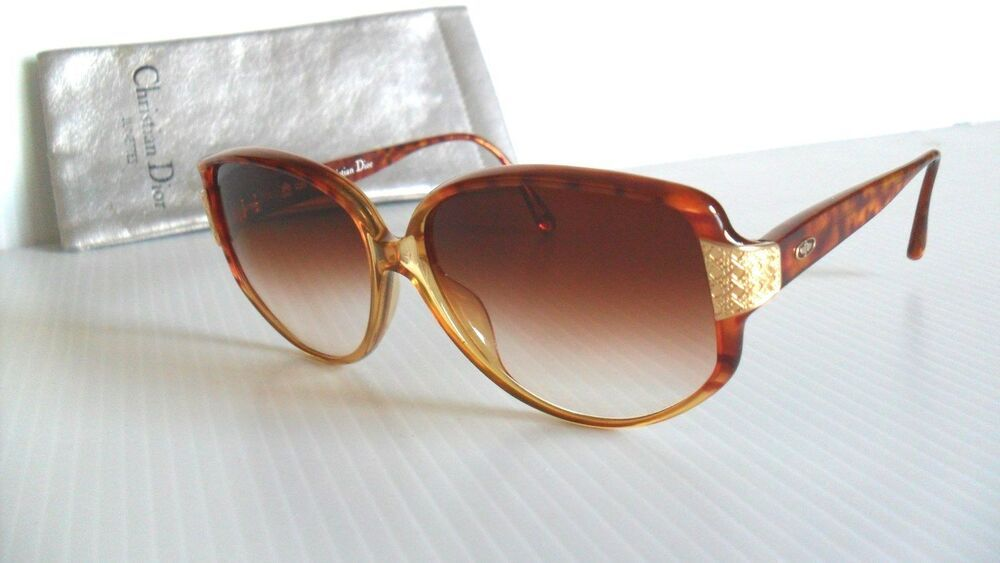 f7019fc36162 NEW VINTAGE CHRISTIAN DIOR 2801 TORTOISE GOLD LARGE SQUARE SUNGLASSES   fashion  clothing  shoes