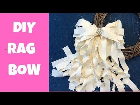 How to Make a Rag Bow - Super Easy DIY Rag Bow Tutorial