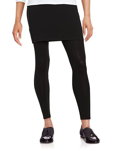 9132aa5b8b9aa3 Eileen Fisher Knit Skirted Leggings Women's Black Small | Products ...