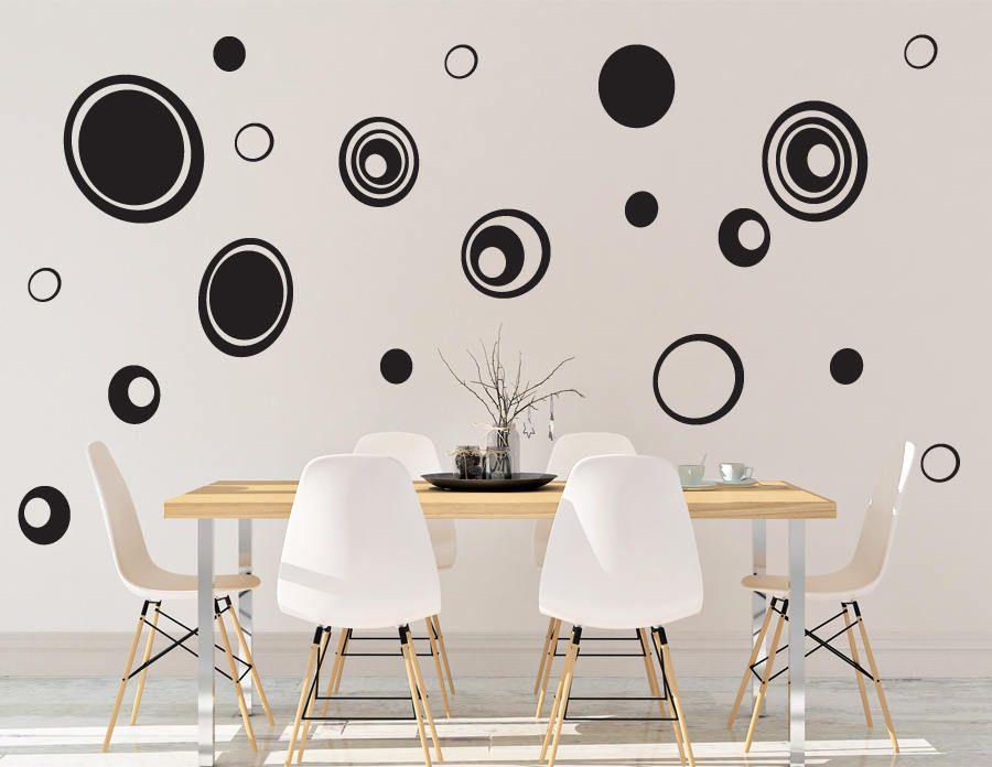 Pebble Wall Decal - Dots Wall Decor - Vinyl Wall Decal - Wall Decal ...