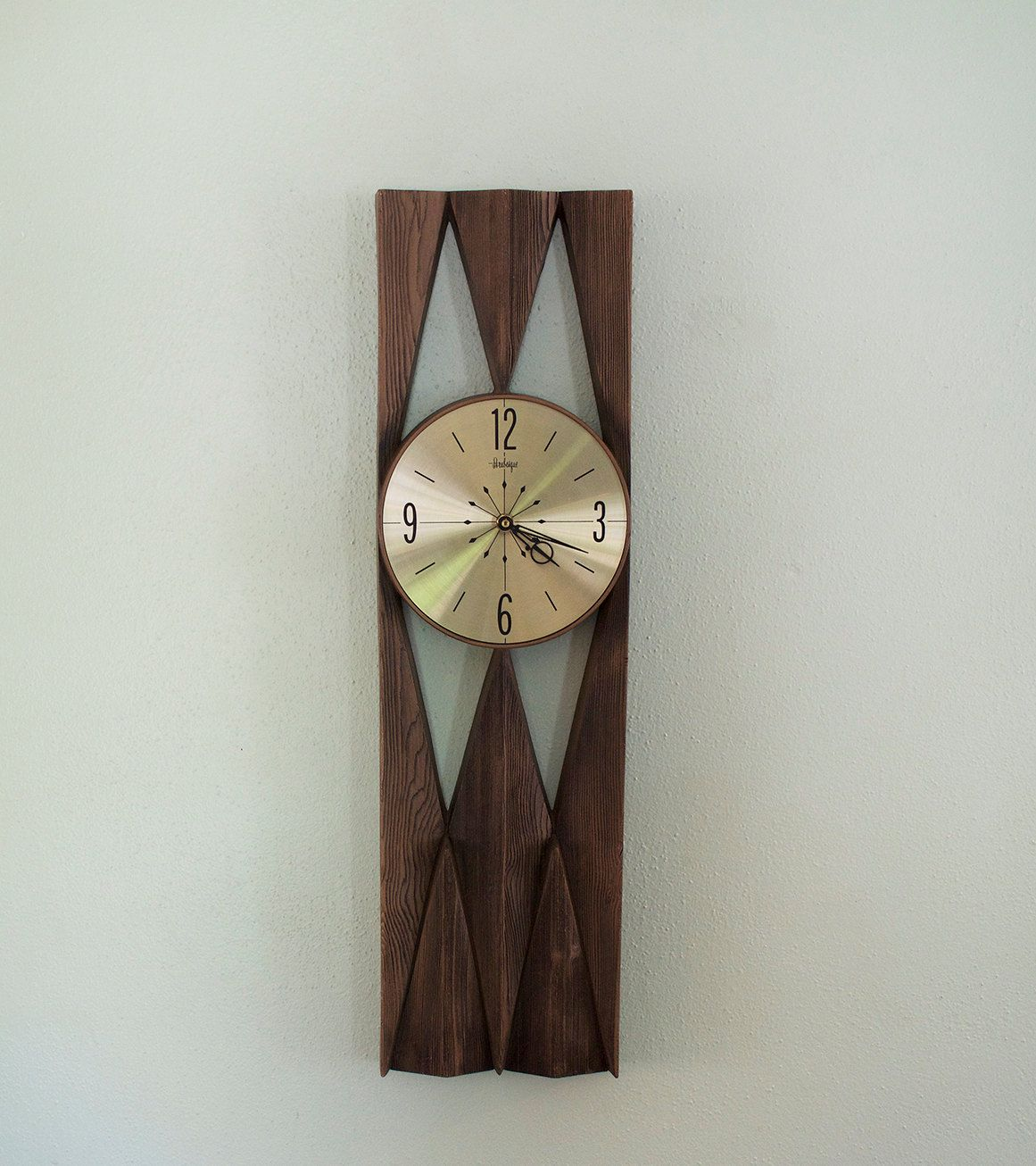Mid Century Modern Arabesque Wall Clock  Burwood Products By  Modernmutations On Etsy