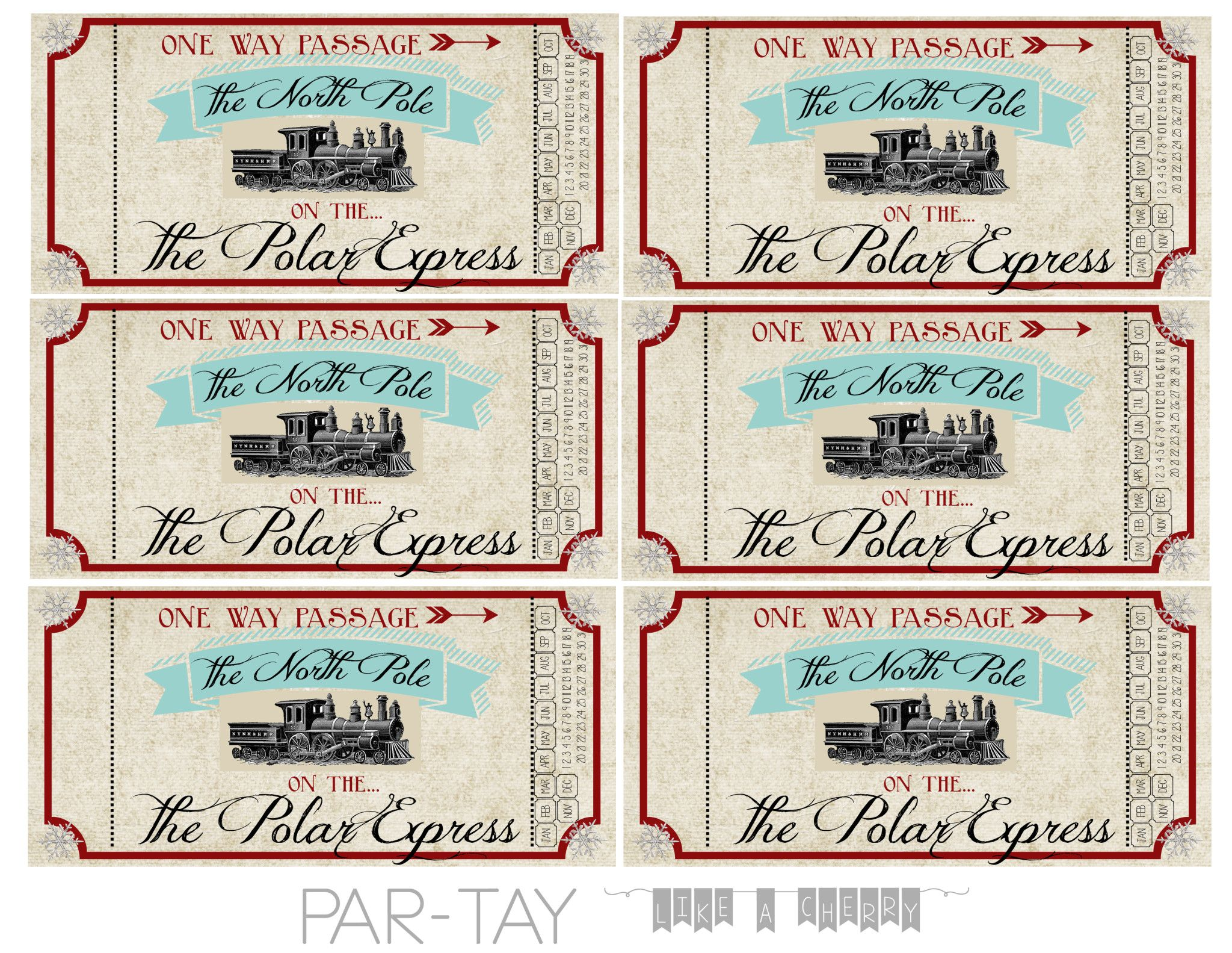 Polar Express Train Tickets Free Printable