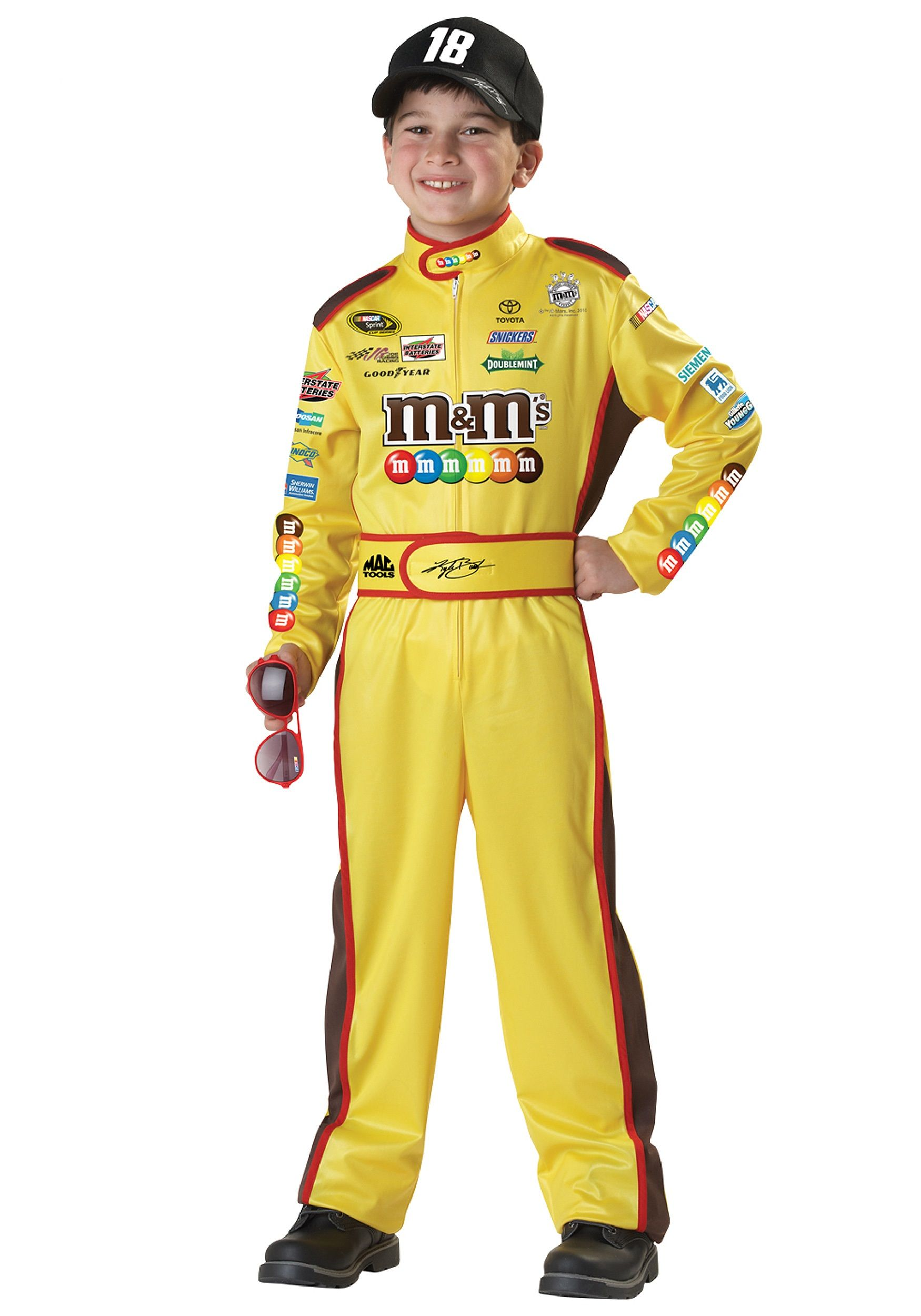 our kyle busch costume for kids will have everyone cheering for him to win the race