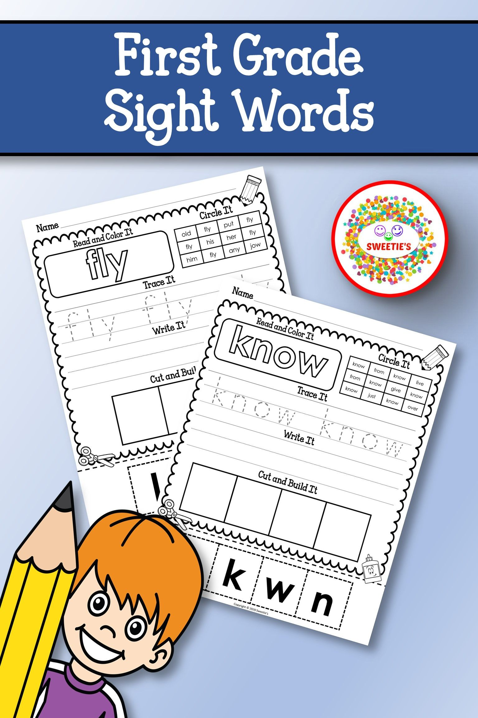 Dolch First Grade Sight Word Worksheets