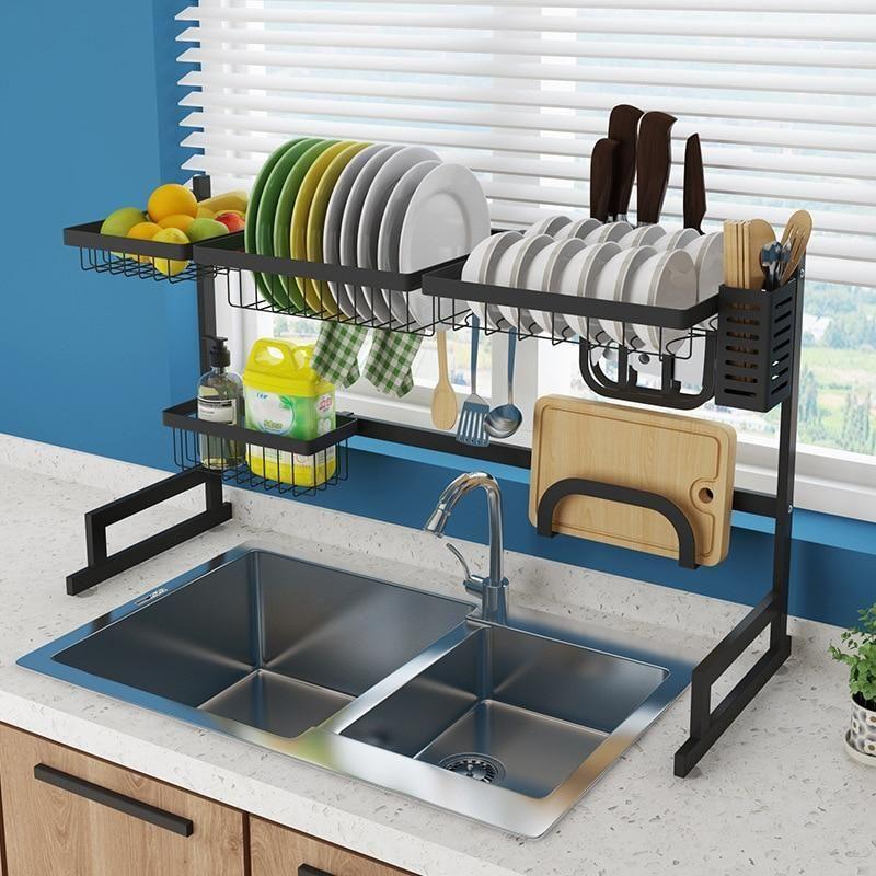 Dish Draining Shelf Countertop Organizer Kitchen Shelves Countertop Organization Kitchen Organization