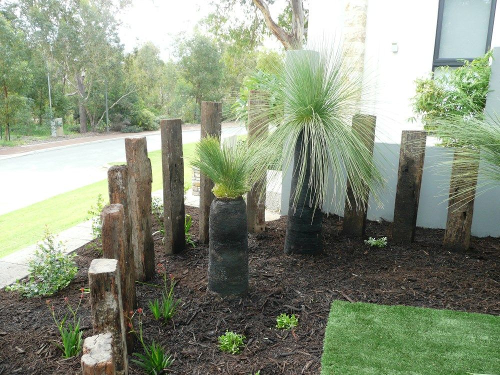 vertical sleepers Google Search front garden makeover