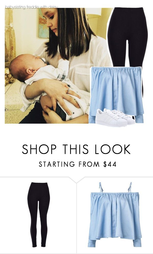 """babysisting freddie with daisy"" by isabelapbarreto ❤ liked on Polyvore featuring beauty, Sandy Liang and adidas"