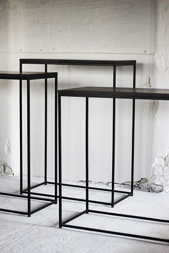 Exhibition Stand Frame : Metal frame plinths with concrete effect tops display
