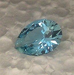 Aquamarine pear