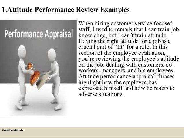 280 Performance Review Comment Samples HR Performance