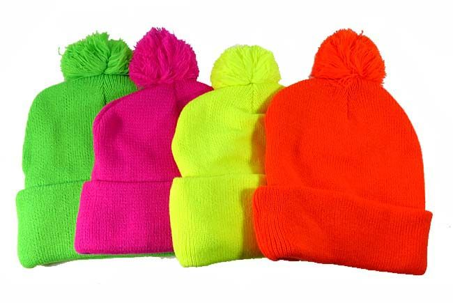 779814df5db Pom Pom Beanies Wholesale Hats - Neon Colors