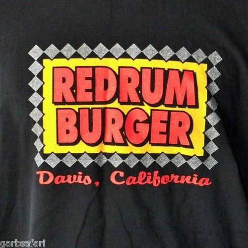 Murder Redrum Burger T-Shirt XL Davis CA Gunshots Fast Food Sacramento NorCal